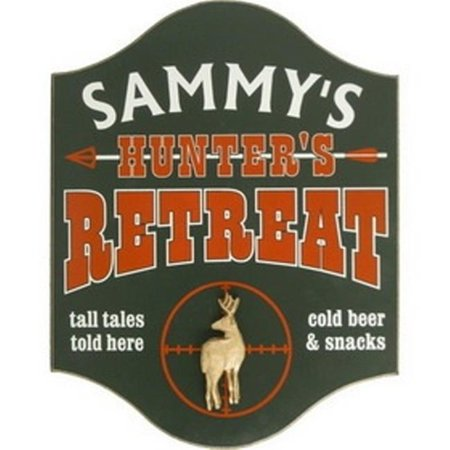 Davis and Small Decor 4502DE Hunters Retreat With Deer Retreat Wood Sign