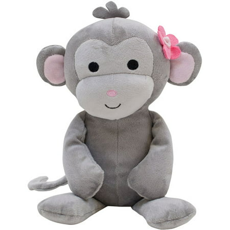 Lambs & Ivy Pinkie Plush Cupcake the - Monkey Mascot