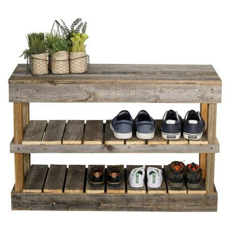Del Hutson Reclaimed Wood Shoe Bench Custom Wood Furniture