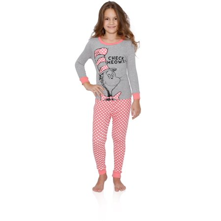 Dr Seuss Amazing Girls Cotton Pajama Set, Cat in The Hat, Size: 6](Dr Seuss Scarf)