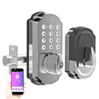 TURBOLOCK TL115 Smart Lock with Keypad and Voice Prompts | Digital Deadbolt w/ App for Unlimited eKeys | Code Disguise, Backup Keys + Micro-USB Port — Ready for Thicker Doors (IP65)