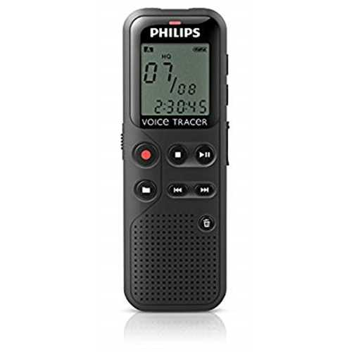 Refurbished Philips DVT1100 4GB Digital Voice Recorder with PC Connection (Certified Refurbished)