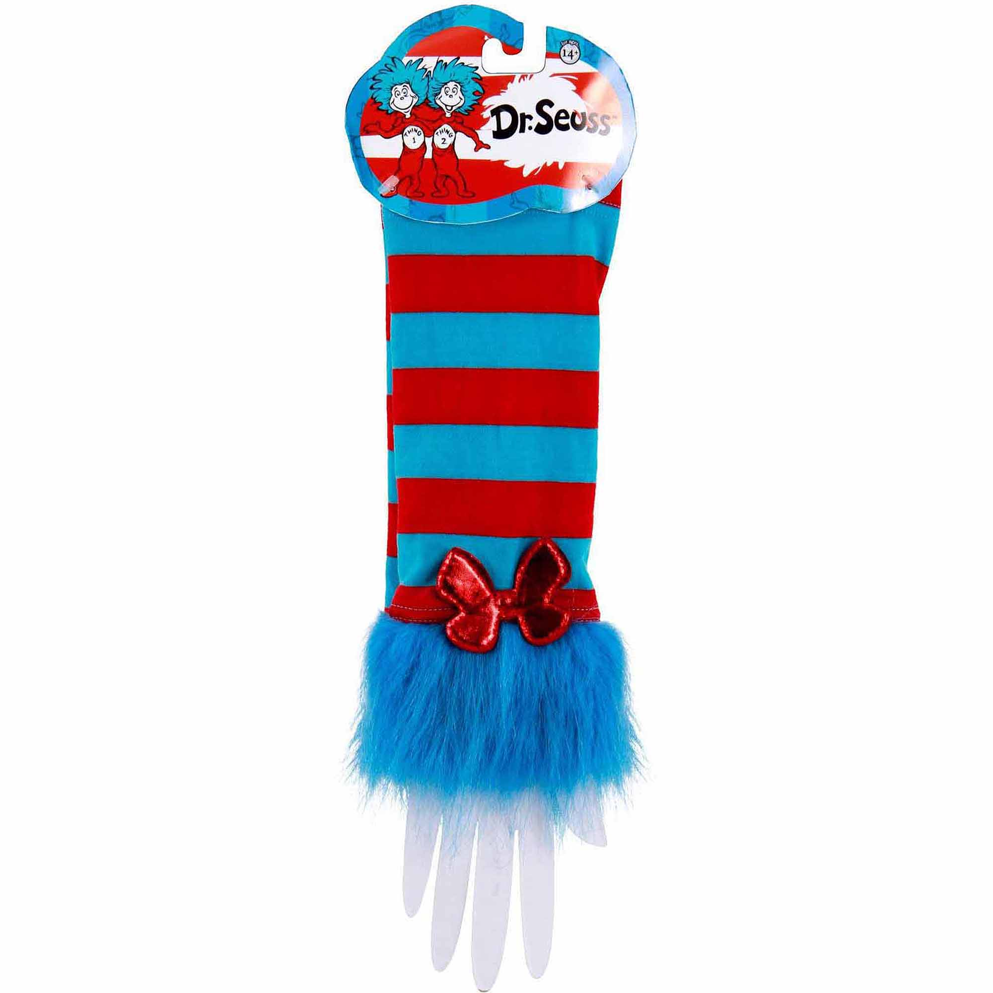 Cat In The Hat Thing 1 And Thing 2 Fuzzy Glovettes Halloween Accessory