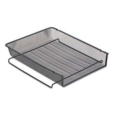 Eldon Office Products 22211ELD Mesh Stackable Front Load Letter Tray, Wire, Black