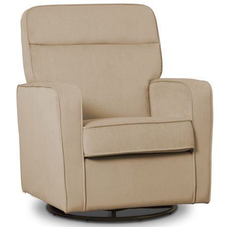 Delta Children Willow Nursery Glider Swivel Rocker Chair Featuring LiveSmart Fabric by Culp, -