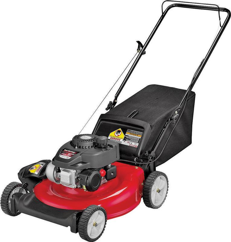 Yard Machines 11A-A2S5700 Lawn Mower, 21 in W x 1-1 4 to 3-3 4 in H Cutting, 140 cc 4-Cycle OHV Engi by MTD Products