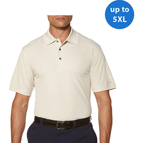 Ben Hogan Big Men's Short Sleeve Pebble Polo