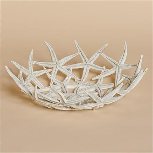 Harvest of Barnstable SFBW Resin Starfish Bowl, White - 12 W x 3. 5 D inch