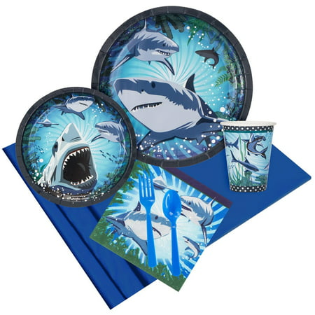 Shark Party Pack For 8](Shark Party Plates)