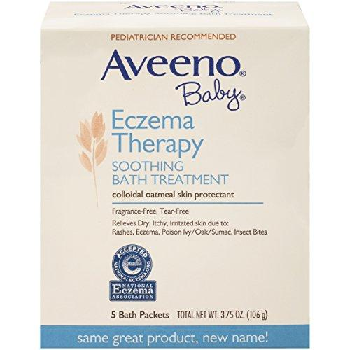 Aveeno Baby Eczema Therapy Soothing Baby Bath Treatment  5 Count (Pack of 10)