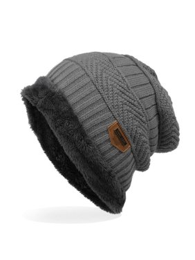 7d5d2b7c9 Product Image Knitted Cap - Thick Soft Warm Winter Hat - Mens Trendy Warm  Oversized Chunky Soft Oversized