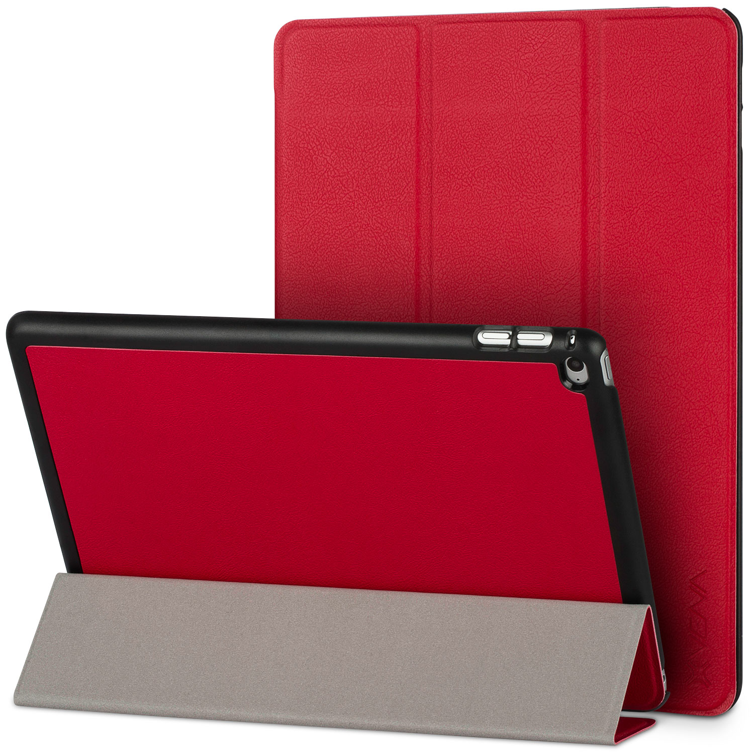iPad Air 2 Smart Cover - VENA [vCover] Slim Leather Auto Sleep / Wake Hard Shell Case for Apple iPad Air 2 (2014) - Red