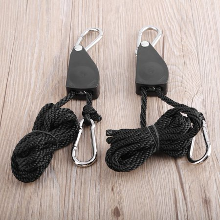 1 Pair 1/8 330 lbs Hangers Rope Ratchet 150Kg Load for Aquarium LED Plant Grow Tent Room Fan Carbon Filter Grow Light - image 6 of 6