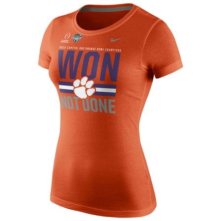 Clemson Tigers Nike Women's College Football Playoff 2015 Orange Bowl Champions Locker Room T-Shirt - Orange