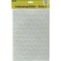 Ecstasy Crafts Nellies Choice A4 Embossing Folder-Baby 2, 8.25 by 11.875-Inch Multi-Colored