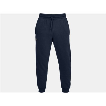 Under Armour 1320740408MD Mens Rival Fleece Jogger Athletic Pants Navy MD