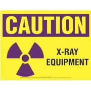 COMPLYRIGHT EHG14 Caution Sign,X-Ray Equipment