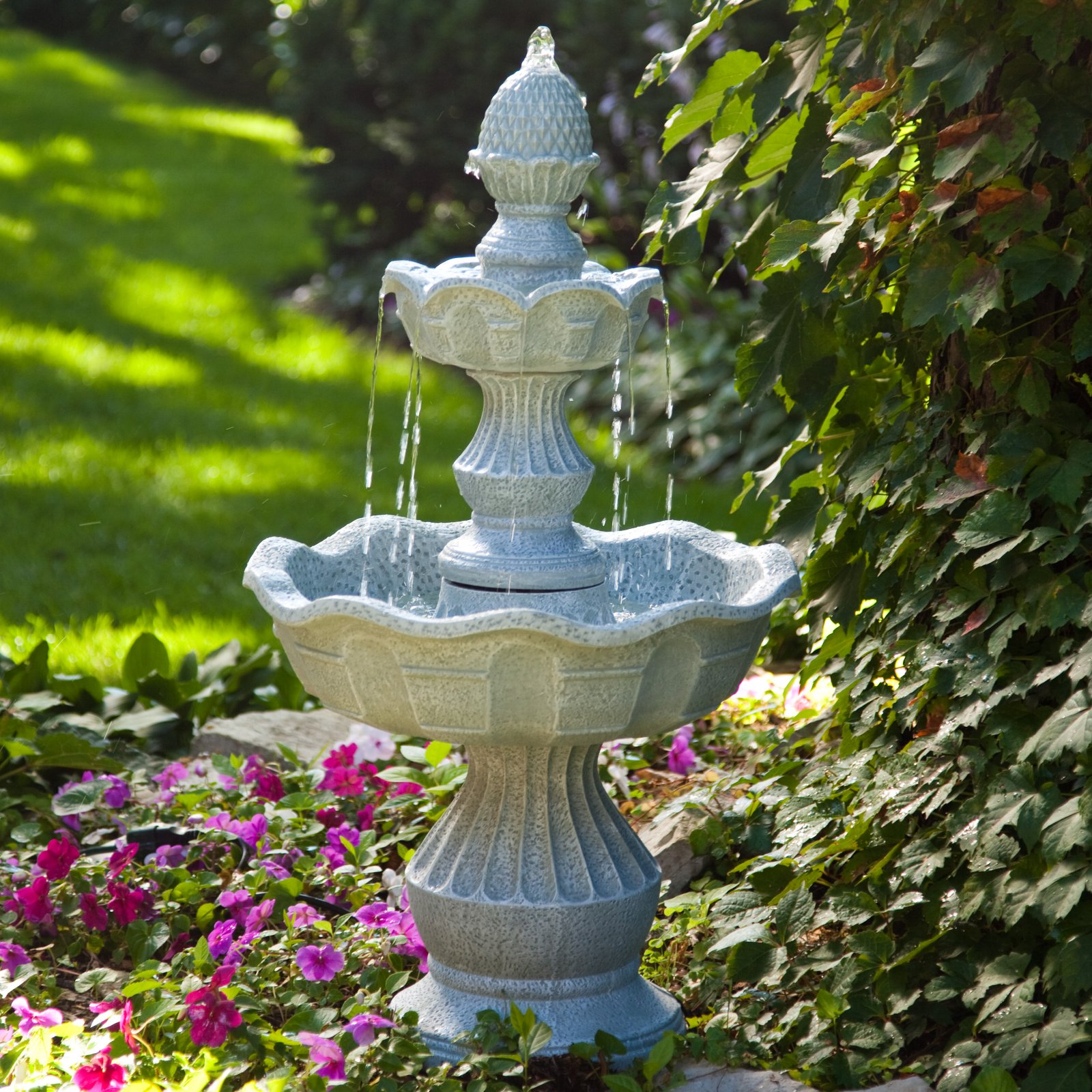 Welcome Garden Pineapple Tiered Outdoor Fountain by LB International Inc