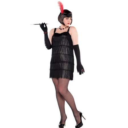 Flashy Flapper Roaring 20's Costume Women's Plus 18-20