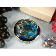 DLusso Designs A3000 Murano Design Compact Mirror Blue Gold, Pack Of - 4.