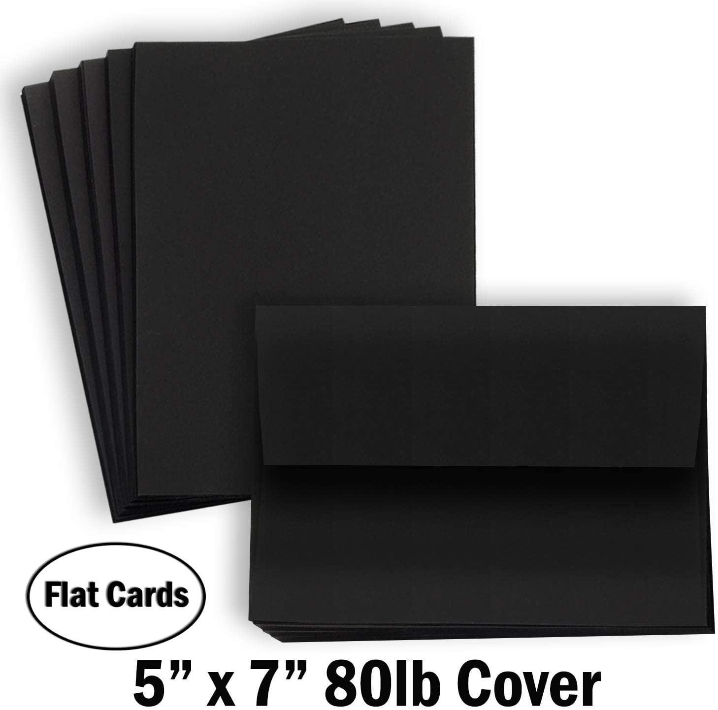 hamilco black colored cardstock thick paper  blank note