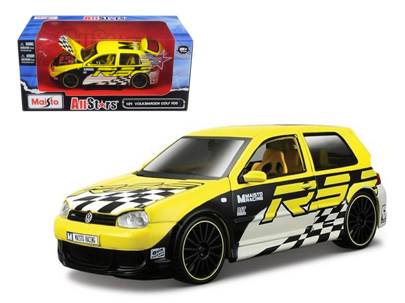 """Volkswagen Golf R32 Yellow All Stars"""" 1 24 Diecast Model Car by Maisto"""" by Diecast Dropshipper"""