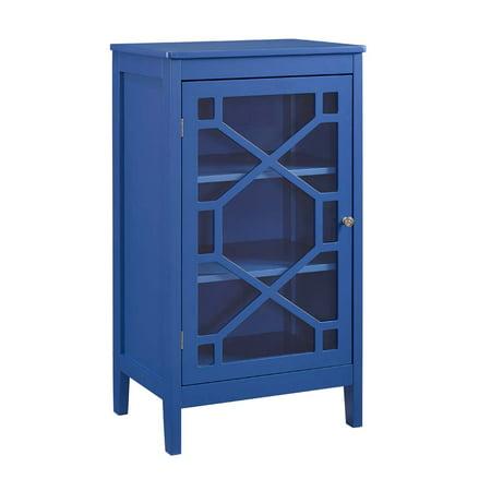 Linon Felicia Small Cabinet 2 Interior Shelves Multiple Colors