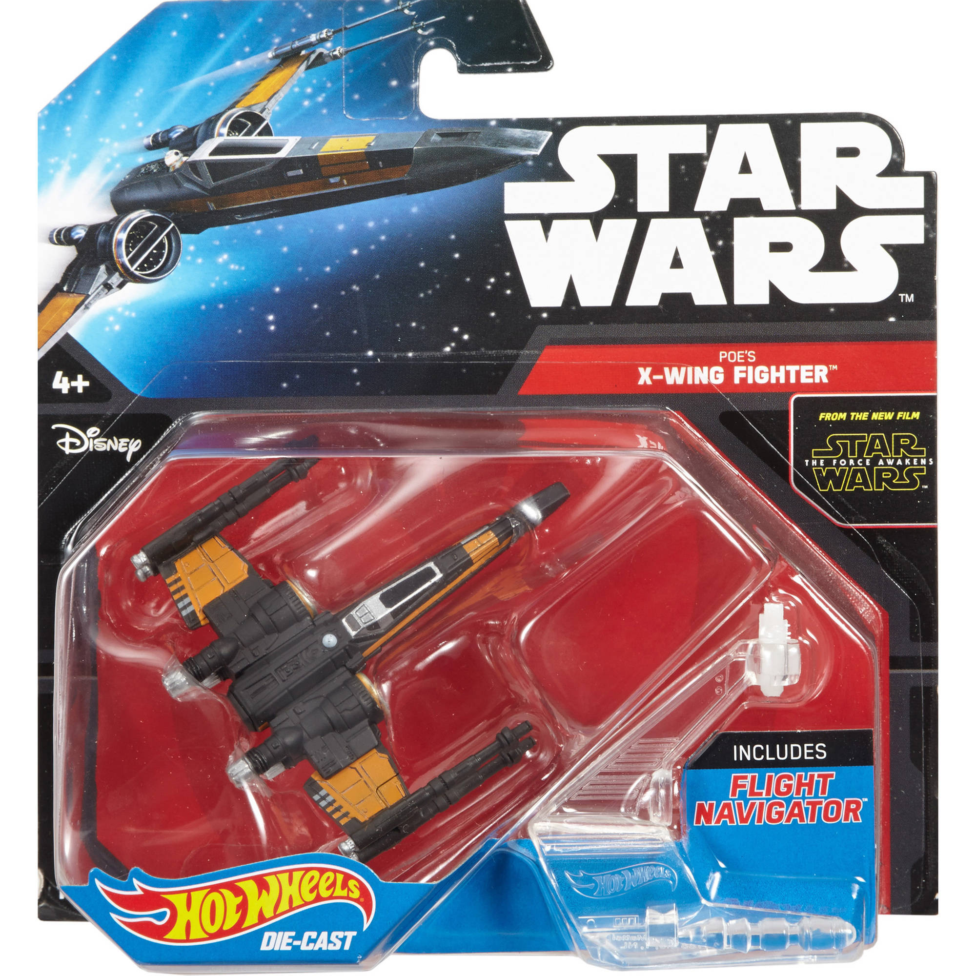 Hot Wheels Star Wars Starships Poe Dameron's X-Wing Fighter