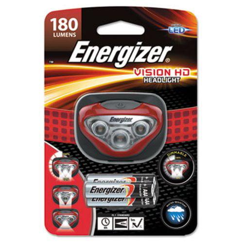 Energizer LED Headlight, 3 AAA, Red (EVEHDB32E)