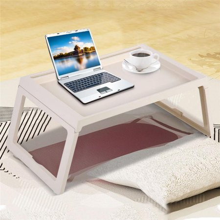 Foldable Laptop Desk Breakfast Serving Bed Tray Table Computer Holder Portable Reading Tray Holder with Foldable Legs (Best Tray Table With Foldable Legs)