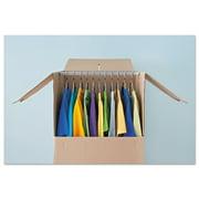"General Supply Wardrobe Moving/Storage Box Hanger Bar, 24"" Long, Silver, 5/Pack"