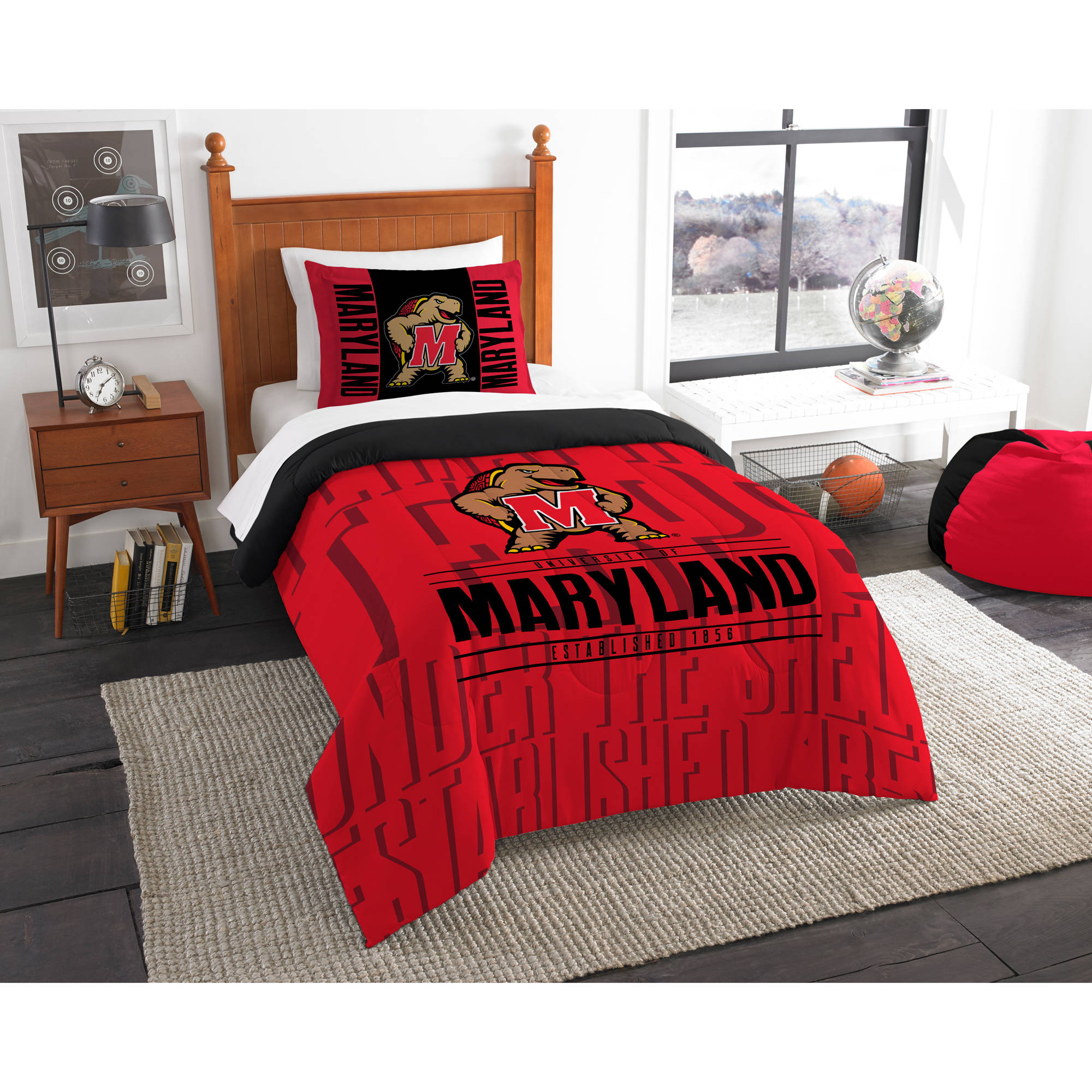 "NCAA Maryland Terrapins ""Modern Take"" Bedding Comforter Set"