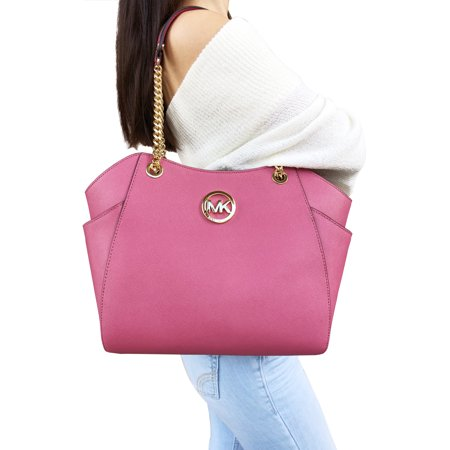 Michael Kors Michael Kors Saffiano Jet Set Travel Large Chain Shoulder Tote Bag Pastel Pink from Walmart | ShapeShop