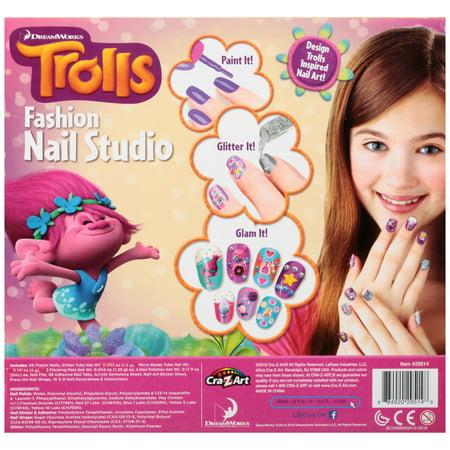 Cra Z Art Dreamworks Trolls Fashion Nail Studio 125 Pc Box Best