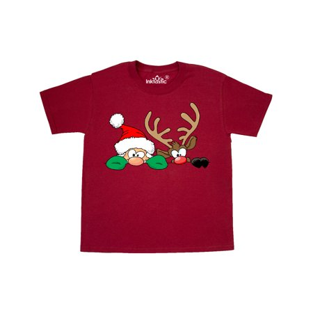 Are The Holidays Over Yet Hiding Santa And Rudolph Youth T Shirt Walmart Com Walmart Com