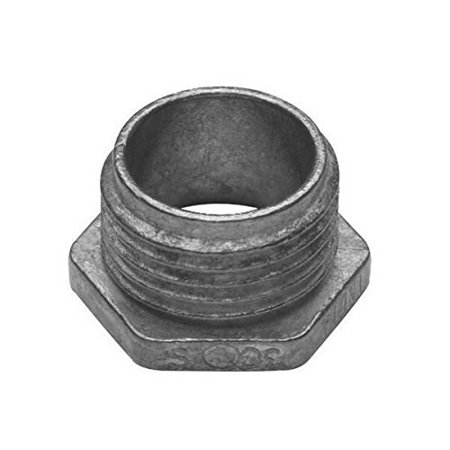Crouse-Hinds 53 Malleable Iron Non-Insulated Throat Hex Head Conduit Bushed Nipple 1-1/4 Inch