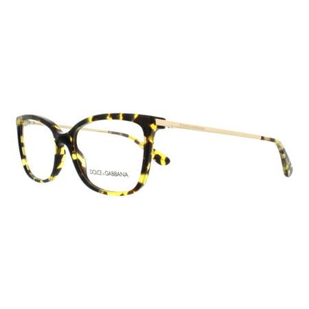 DOLCE & GABBANA Eyeglasses DG3243 2969 Cube Havana Lemon 54MM