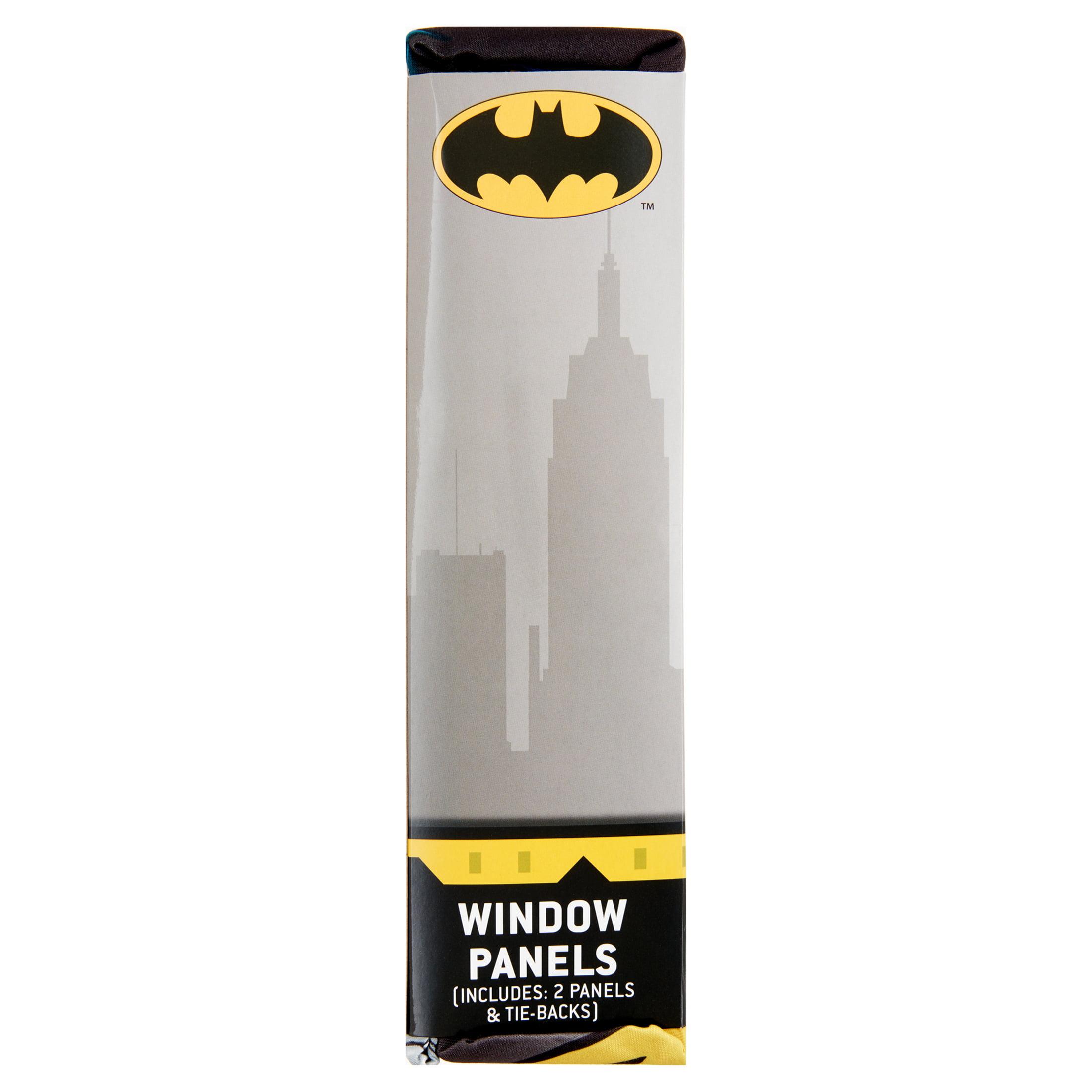 Batman Window Drapes 82 x 63 Kids DC Comic Theme Bedroom Dark Knight Curtain Set
