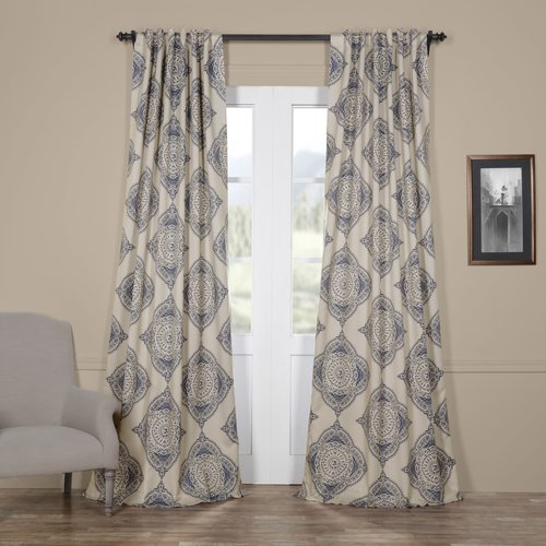 Bungalow Rose Lance Damask Blackout Thermal Single Curtain Panel