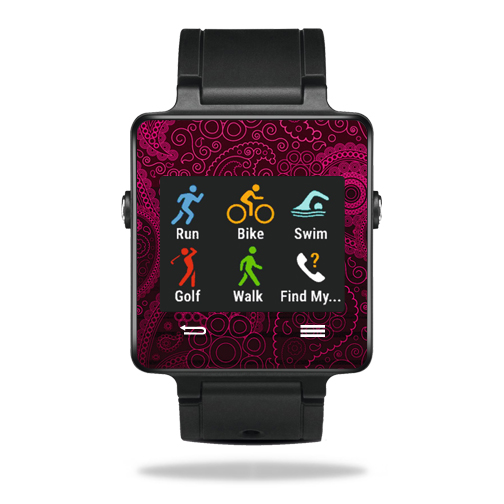 MightySkins Protective Vinyl Skin Decal for Garmin Vivoactive Smartwatch cover wrap sticker skins Paisley