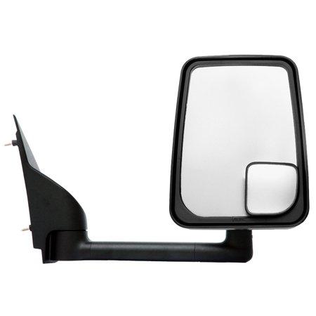 Velvac 714564 Exterior Mirror  2020 Model Standard Head; 96 Inch Body Width; Right Side; Black; Remote Flat Glass; Foldaway; With Heated Mirror; Single - image 1 de 1