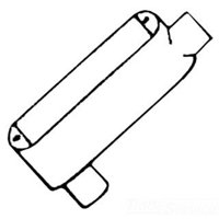 Mulberry 14801 Die Cast Aluminum Type LB Combination Conduit Body With Cover and Gasket 1/2 Inch