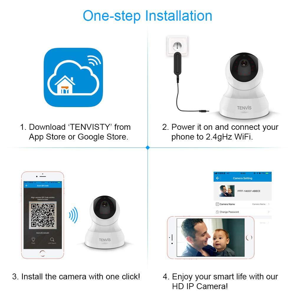 Tenvis HD IP camera - 720p Wireless Surveillance Camera with night Vision