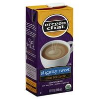 Oregon Chai Slightly Sweet Chai Tea Latte Concentrate, 32 Ounce Box