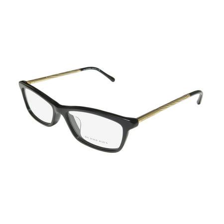 471cc1b504d New Burberry 2190-F Womens Ladies Cat Eye Full-Rim Black   Gold Frame Demo  Lenses 54-15-140 Flexible Hinges Eyeglasses Eye Glasses - Walmart.com