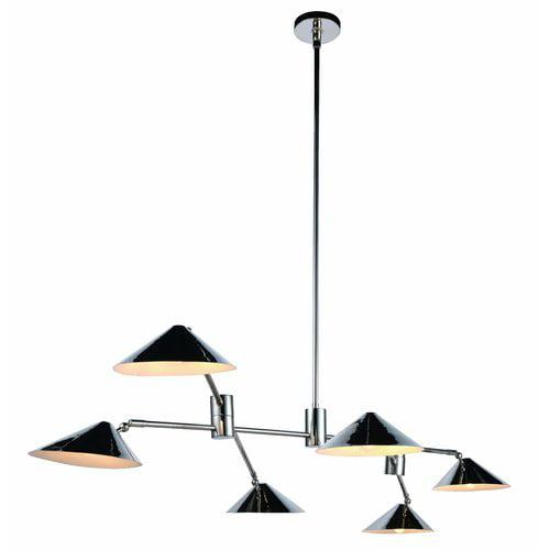 Corrigan Studio Donte 6-Light LED Pool Table Light by
