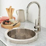 """Native Trails Cps16 Mojito 13"""" Single Basin Drop In Copper Bar Sink"""