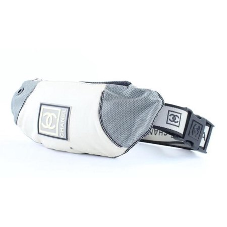 2a30b5352e68 Chanel - Cc Sports Logo Bum Fanny Pack 231110 Grey Canvas Cross Body ...