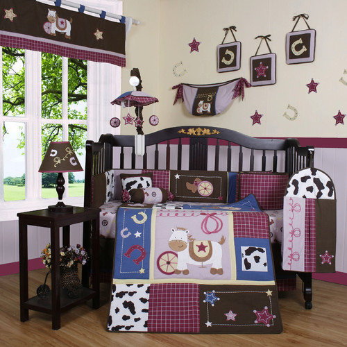 Geenny Boutique Western 13 Piece Crib Bedding Set