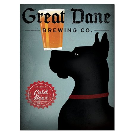 Black History Month Posters (Popular Blue and Black Great Dane Brewing Company Print by Ryan Fowler; One 12x16in Paper Poster)